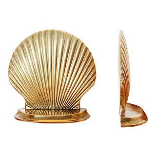 20th Century Brass Shell Bookends - a Pair For Sale