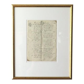 Antique French Farmer's Transcript For Sale