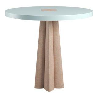 Danielle Natural Cerused Oak Side Table - Ocean Air Blue For Sale