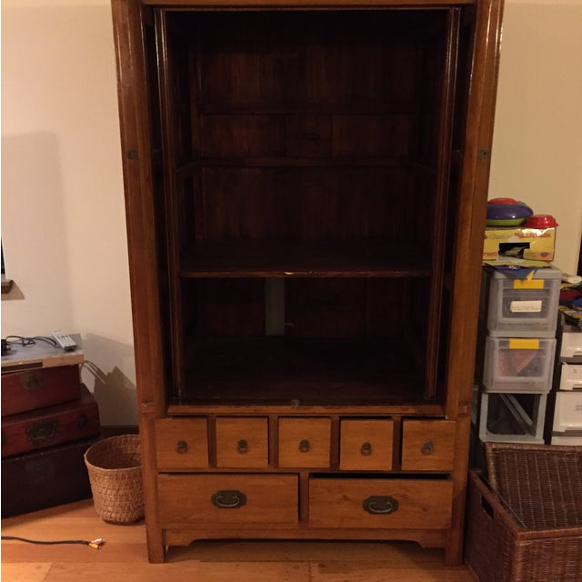 Chinese Medallion Cabinet/Armoire - Image 3 of 6