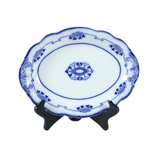 Flow Blue Lorne Oval Serving Plate