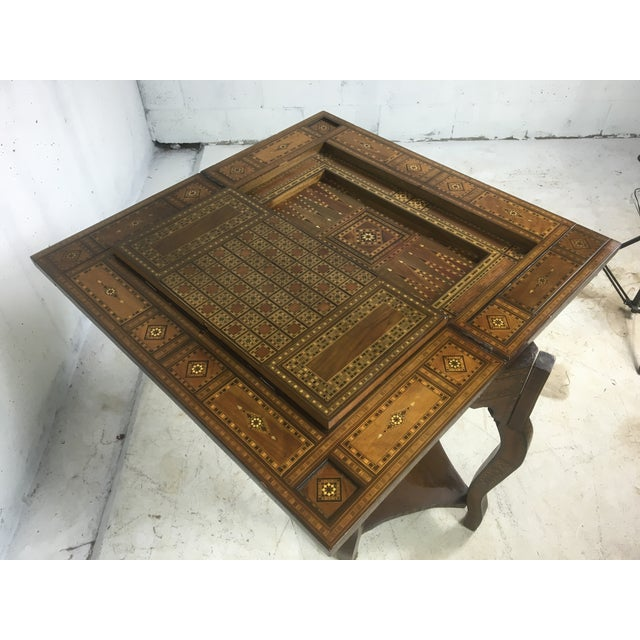 1930's Moroccan Game Table For Sale In Atlanta - Image 6 of 6