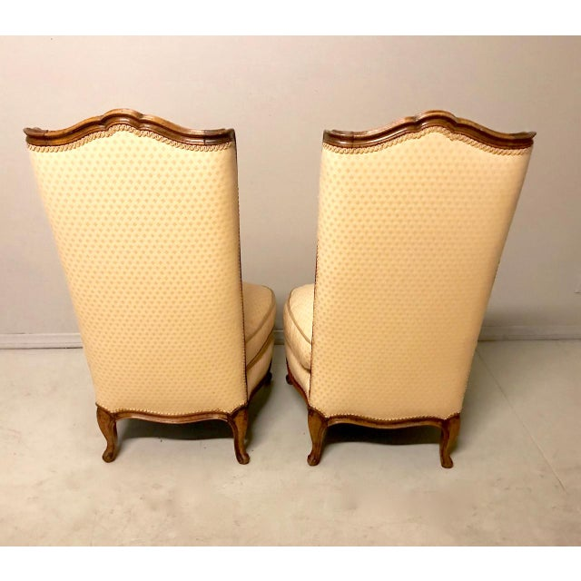 Mid 20th Century Louis XV-Stye Slipper Chairs or Chauffeuses - a Pair For Sale - Image 5 of 8