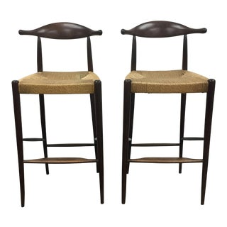 Danish Modern Bar Stools - A Pair For Sale