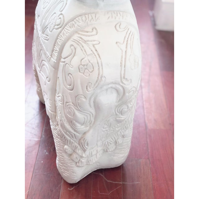 Glass Glass Top Elephant Figure Side Table For Sale - Image 7 of 8