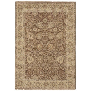 """Hand Knotted Indian Rug - 4'4""""x 6'3"""" For Sale"""