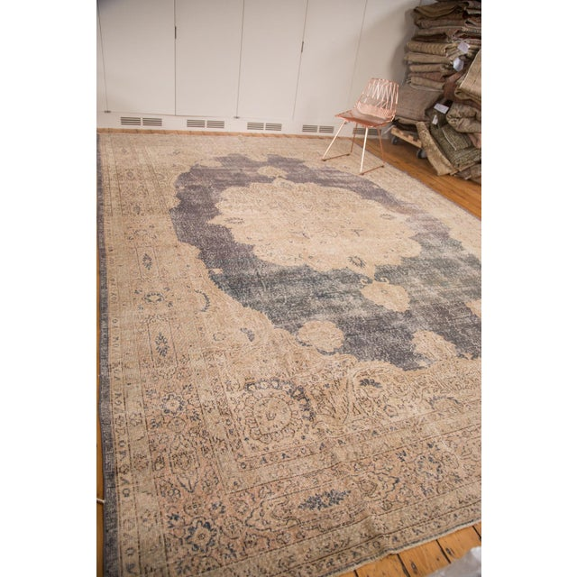 "Distressed Vintage Oushak Carpet - 9'9"" x 14'5"" - Image 5 of 7"