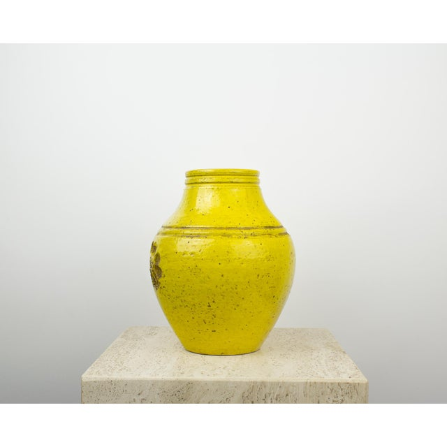 Bitossi For Rosenthal Netter Yellow Pottery Vase Chairish