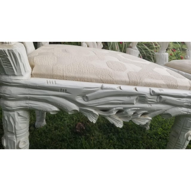 White 19th Century Style Fois Bois Carved Chairs For Sale - Image 8 of 9