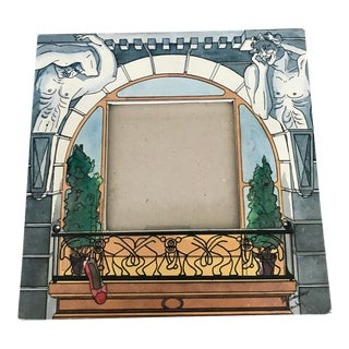 French Hand-Drawn Picture Frame For Sale