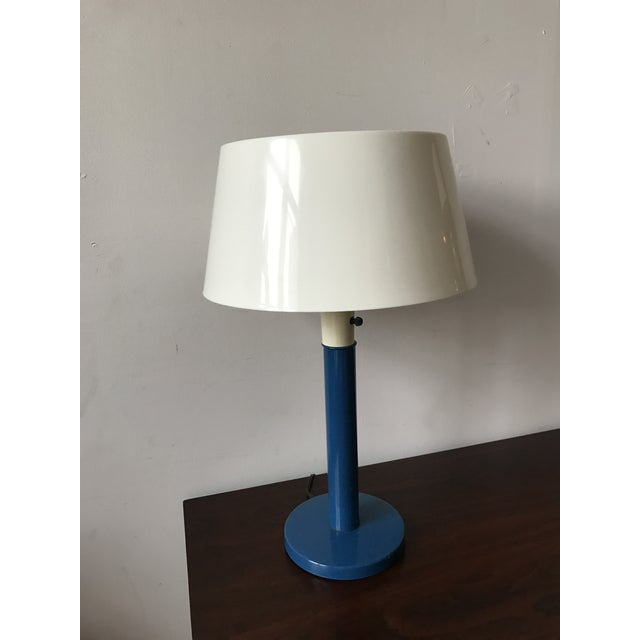 Gerald Thurston Mid-Century Cobalt Table Lamp - Image 5 of 7