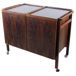 Rosewood Expansion Bar Cart by Niels Erik Glasdam Jensen For Sale