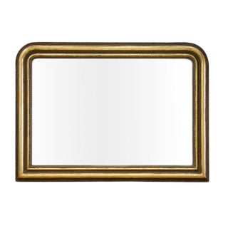 "Large Louis Phillipe Mantle Mirror 56"" W X 40.5 H For Sale"