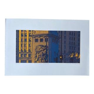 Hiroshi Ariyama Serigraph 'Michigan Ave' For Sale