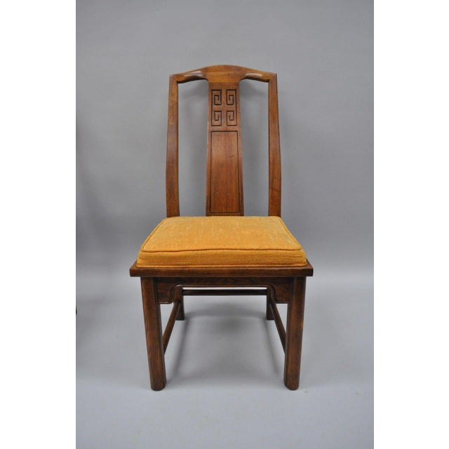 Set of 6 Vintage Oriental James Mont Style Dining Chairs by Century Mid Century Modern For Sale - Image 4 of 13