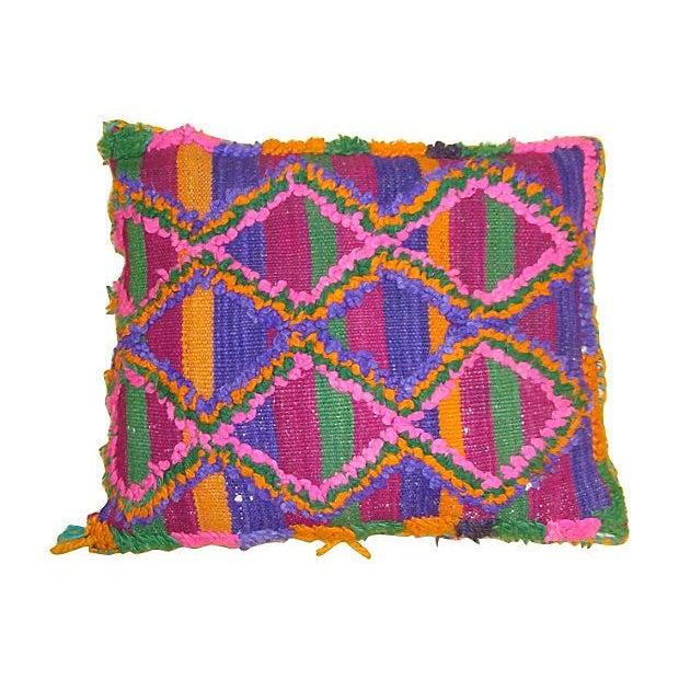 Moroccan Sham with Pink & Purple Diamonds - Image 1 of 2