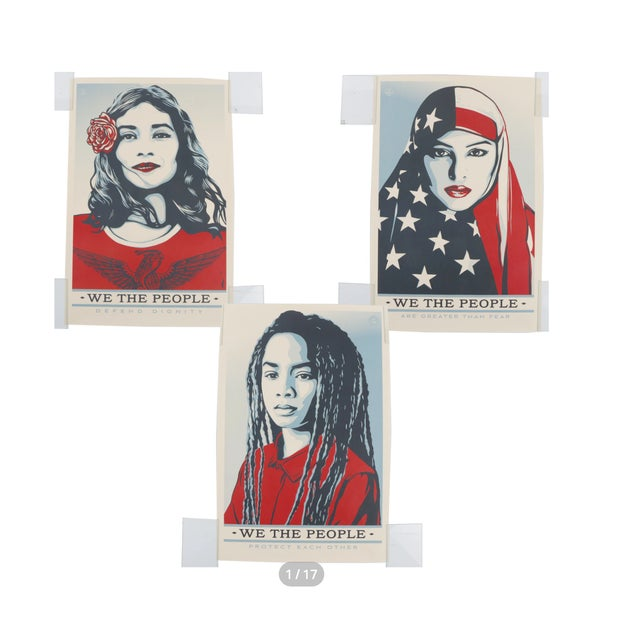 "Three Shepard Fairey Serigraph Prints ""We the People"" For Sale - Image 13 of 13"