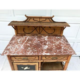 Late 19th Century Antique Asian Chinoiserie Marble-Topped Bar Preview