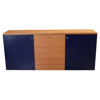 Modern Orange and Blue Buffet by Castelijn For Sale