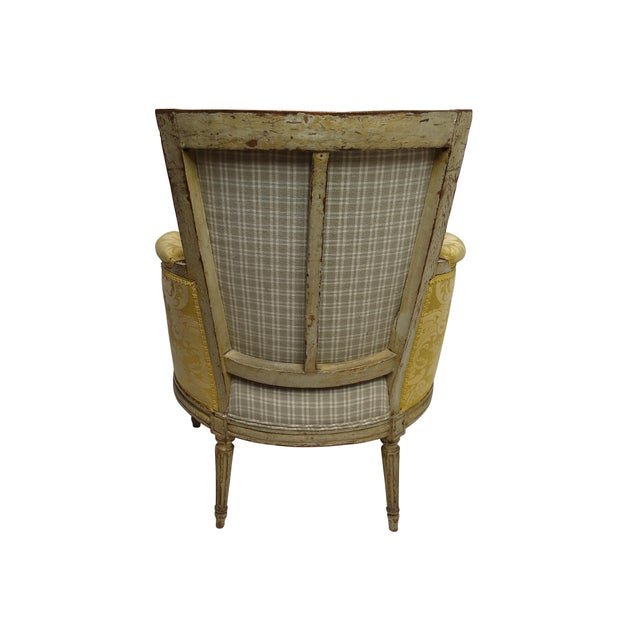 Louis XVI Style Bergere Chair, French, Late 19th-Early 20th Century For Sale - Image 4 of 8