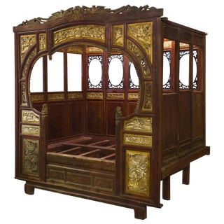 1900s Antique Chinese Gu-Fei Canopy Day Bed For Sale