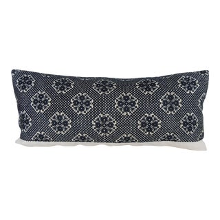 Long Black Fez Antique Textile Bolster Pillow For Sale