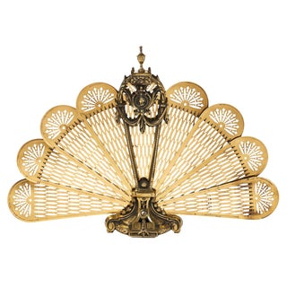 French Antique Napoleon III Period Fire Screen For Sale