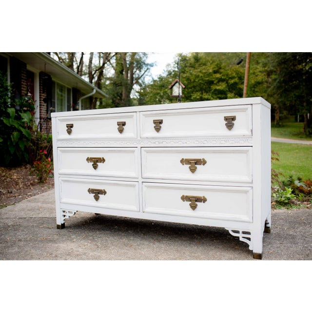 Dixie Antique White Shangri-La 6-Drawer Dresser For Sale - Image 9 of 10