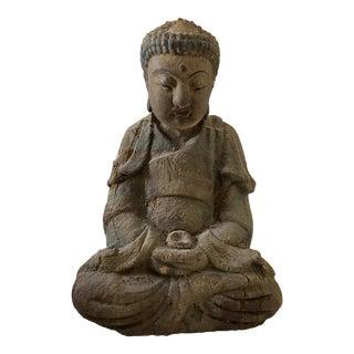 "Wooden Medicine Buddha 9.25"" H For Sale"