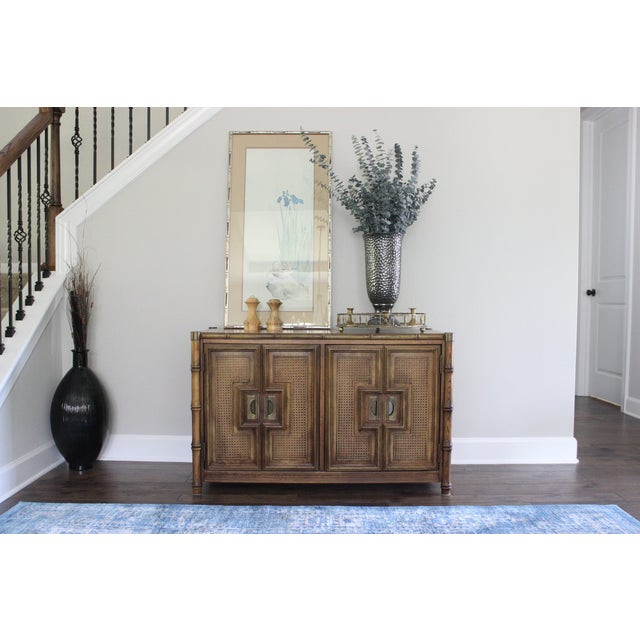 Stanley Mid Century Faux Bamboo Credenza - Image 11 of 11