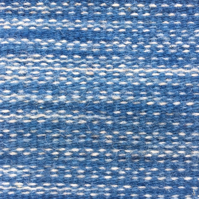 Hand Dyed Mexican Indigo Blue Wool Rug - 1′11″ × 2′9″ - Image 5 of 7