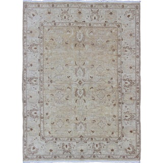 Keivan Woven Arts Muted Pakistani Rug With All-Over Pattern- 7′9″ × 10′2″ For Sale