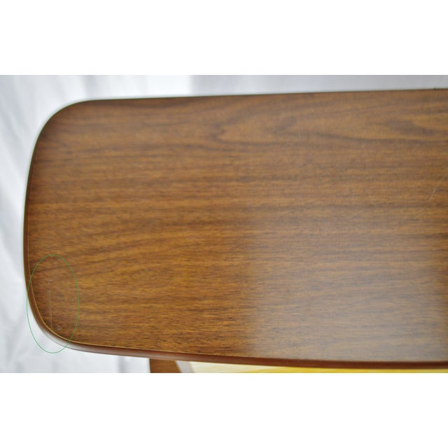 Mid Century Modern Walnut Formica & Faux Mother of Pearl Dry Bar For Sale - Image 4 of 13
