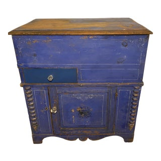 Antique Swedish Commode or Chest With Original Paint For Sale