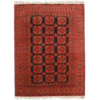 Rugsindallas Hand-Knotted Afghan Turkmen Rug - 5′11″ × 8′9″ For Sale