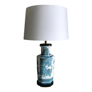 Blue & White Chinoiserie Lamp For Sale