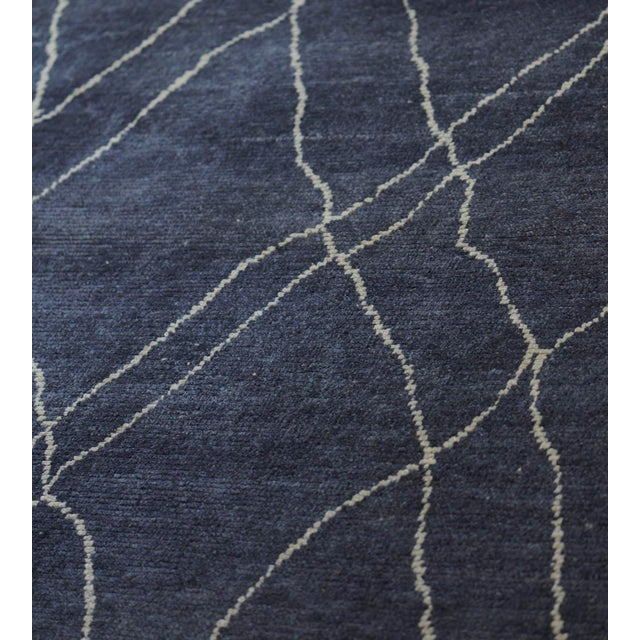 Handwoven Moroccan Inspired Wool Rug For Sale In Los Angeles - Image 6 of 7