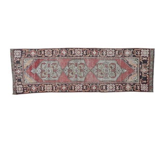 Turkish Oushak Wool Runner Rug - 2′10″ × 8′10″