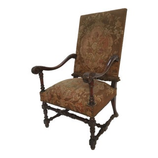 19th Century Antique French Armchair For Sale
