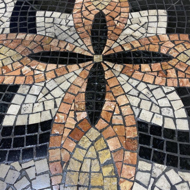 Boho Faux Mosaic Painted Tile Coffee Table For Sale - Image 10 of 11