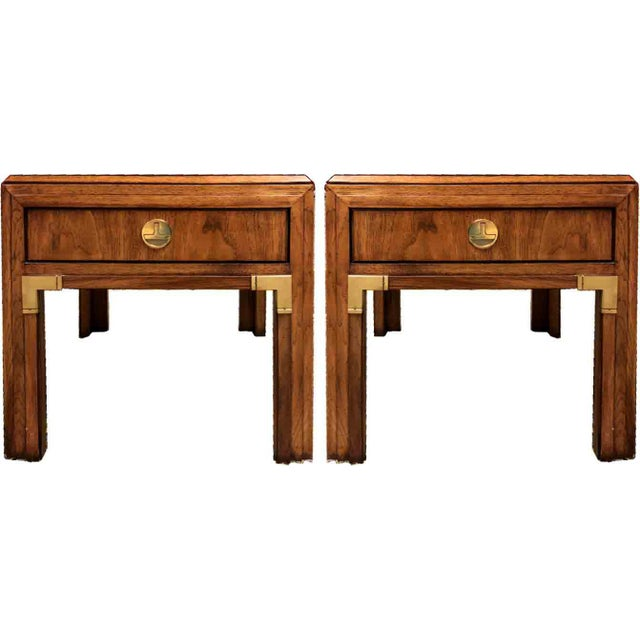 Campaign Thomasville Continuity Collection Side Tables - a Pair For Sale - Image 12 of 12