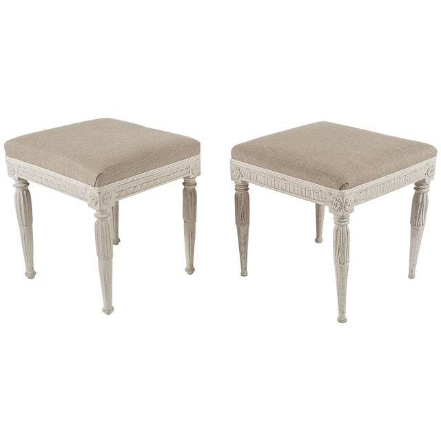 Swedish Gustavian Period Painted Stools, Circa 1790 For Sale - Image 10 of 10