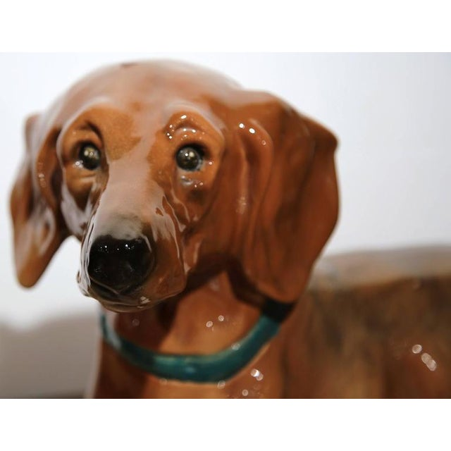 1920s French Faience Dachshund Figure - Image 7 of 10