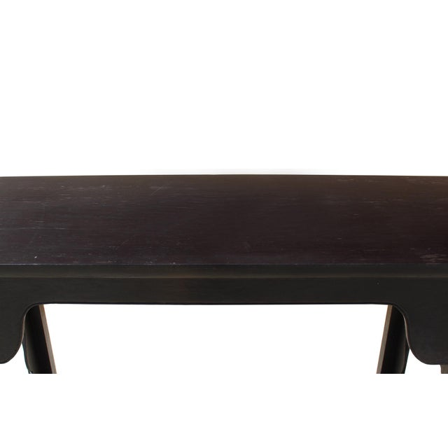 Chinese Dark Brown Black Huali Rosewood Plain Ming Style Altar Table For Sale - Image 4 of 7