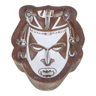 Società Anonima Ceramiche Zaccagnini Ceramic 'Tribal' Mask Dish For Sale