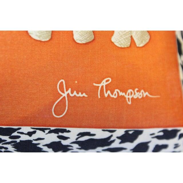 Jim Thompson Orange Thai Elephant Pillow For Sale In New York - Image 6 of 6