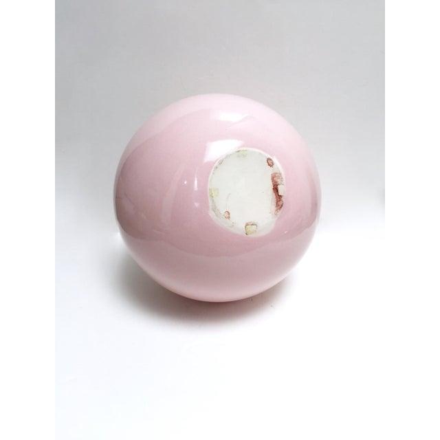 Large Round Gumball Pink Vintage Vase - Image 3 of 7
