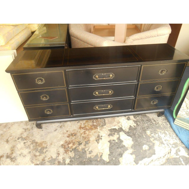 American of Martinsville Black Lacquer Dresser - Image 2 of 8