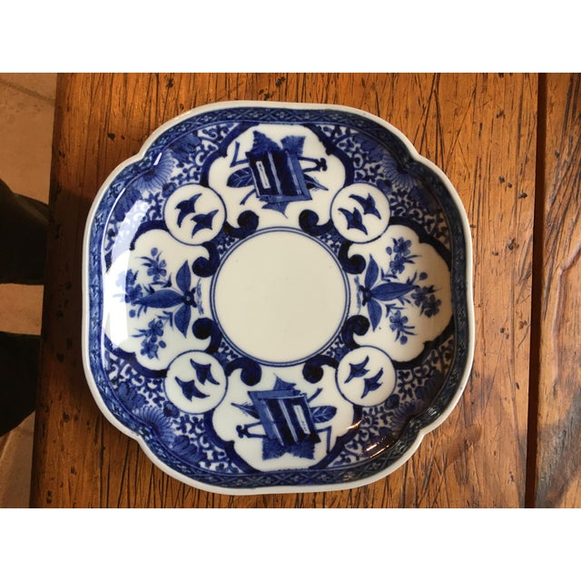 Edo Period Blue & White Japanese Dishes With Chenghua Marks - Set of 3 For Sale In Santa Fe - Image 6 of 8