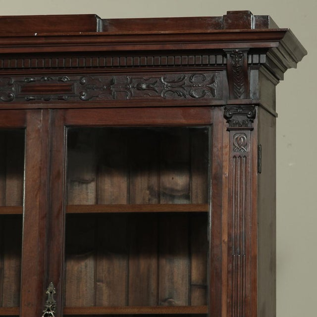 19th Century Renaissance Revival Bookcase With Angels~ Putti For Sale In Dallas - Image 6 of 13